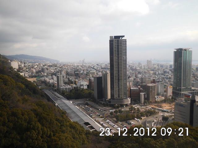 Suasana Ropeaway di Kobe Nunobiki Herb Gardens & Ropeway
