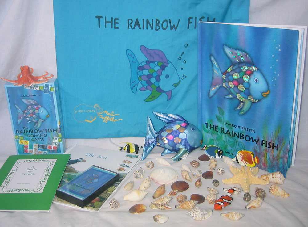 Early language skills through play home made story for Rainbow fish story