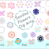 ↣ Flowers Doodles Cliparts {SVG, PNG and JPG}