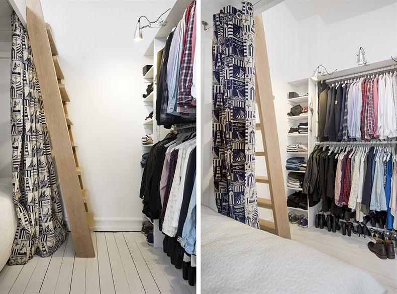 Armario - Agradables detalles en tono pastel para este precioso mini piso nordico