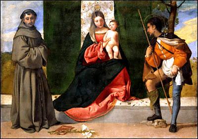 La Virgen entre San Antonio y San Roque