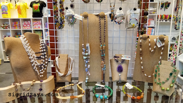 Jewelry items at Negros Showroom