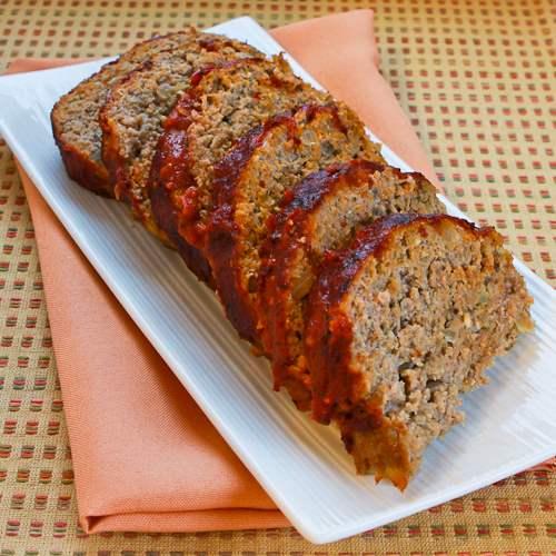 Turkey Pesto Meatloaf with Tomato Sauce - Kalyn\u0027s Kitchen