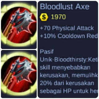 Bloodlust Axe, Item Wajib Hero Fanny