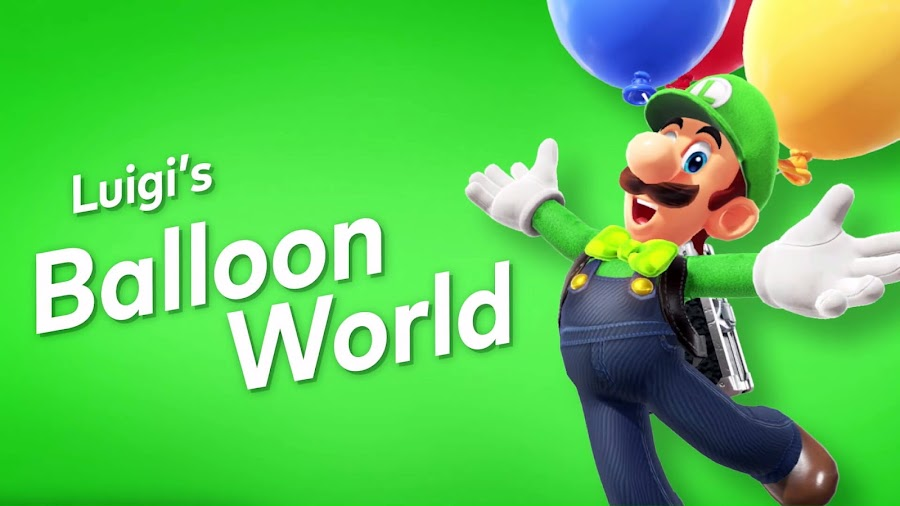 super mario odyssey luigi's balloon world