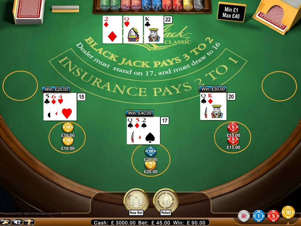 Betsson Casino Blackjack Screen