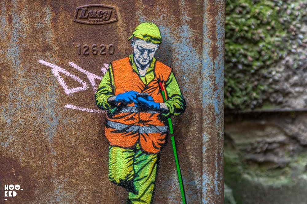 Belgian street artist and urban interventionist, Jonathan Pauwels aka Juane. Photo ©Hookedblog