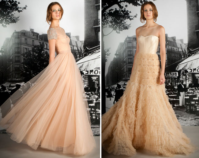 Pink Wedding Gown: Dooley Noted Style: Selecting Your Wedding Colors