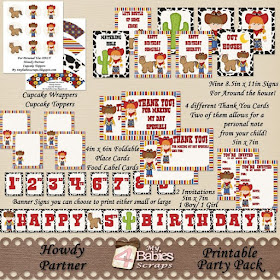 Howdy Partner Printable Party Pack