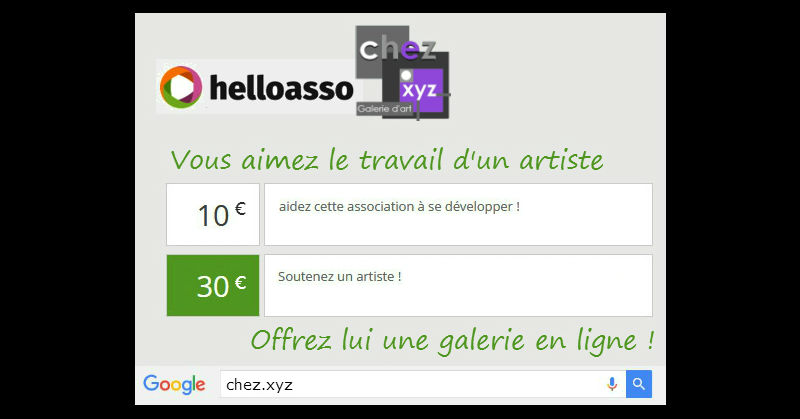 chez.xyz association artistique galerie d'art en ligne