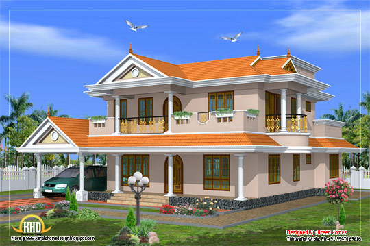 Beautiful 2 Storey house design - 231 square meters (2490 Sq. Ft.) - February 2012