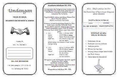 contoh undangan halal bi halal idul fitri keluarga besar filetype:doc