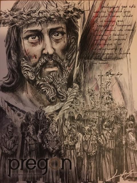 Portada de la revista PREGON 2017. Ilustración de Luis Miguel Robles García