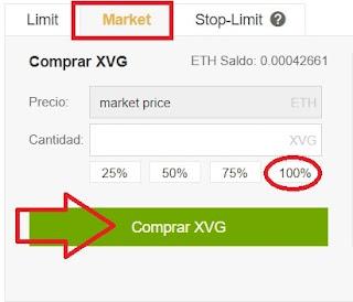 comprar moneda verge XVG en binance euros españa