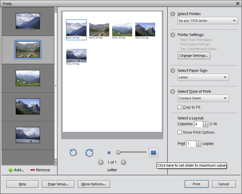 How to Print Multiple Photos on One Page in Photoshop
