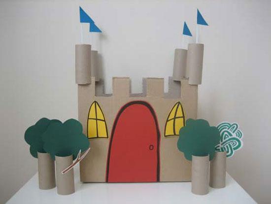 castillos, cartón, reciclar, juegos, infantil, manualidades