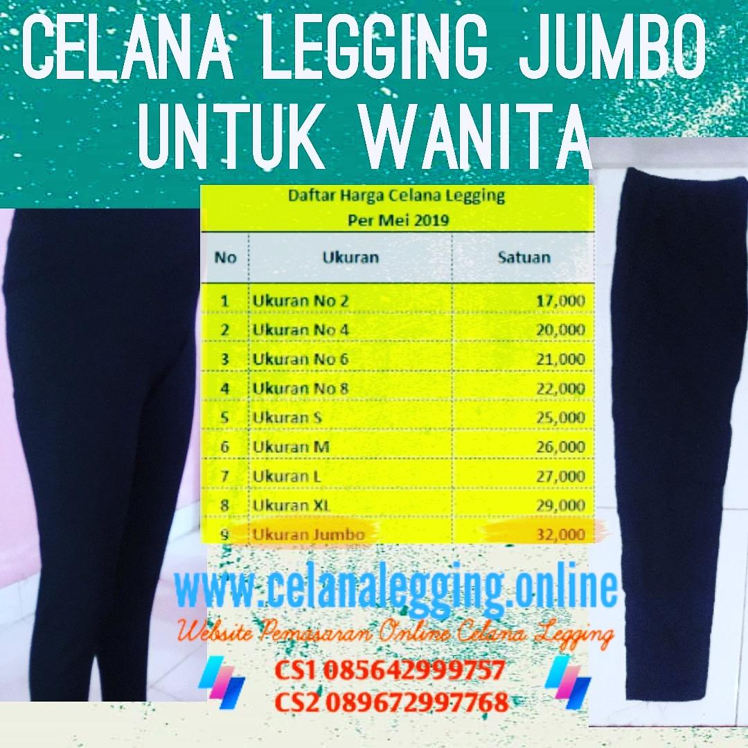 Jual Legging Jumbo Warna Hitam Bahan Kaos