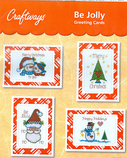Be Jolly Cross Stitch Greeting Cards Kit