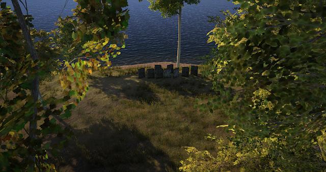 東の海を臨む丘の墓碑群