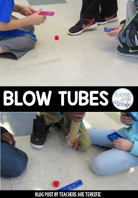 STEM Challenge featuring Newton's Second Law of Motion and Blow Tubes! Students experiment and keep data tables which results in a design challenge Great fun and full of learning!