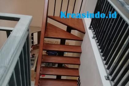 Jasa Tangga Besi kombinasi Trap Kayu Kamper di Cirebon