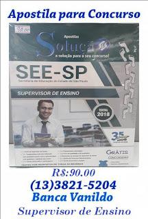 "Apostila para o Concurso de ""Supervisor de Ensino"" na Banca Vanildo"