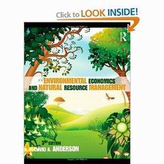Environmental Economics And Natural Resource Management Anderson Pdf