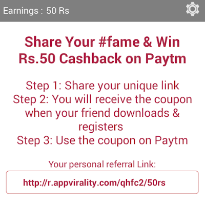 #Fame-app-refer-earn-50-rs-paytm
