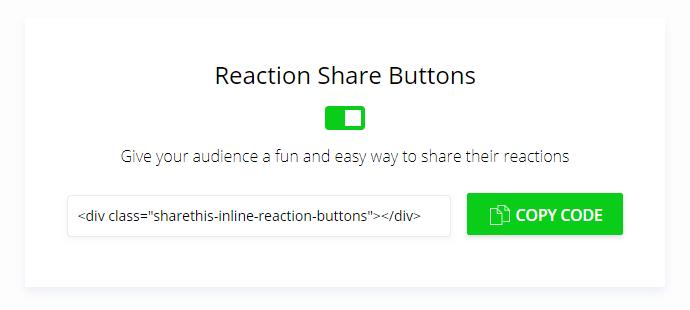 activar reacciones sharethis blogger
