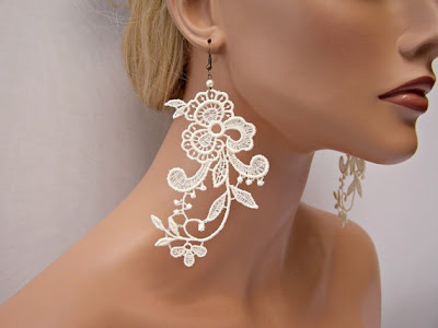 alencon lace earrings