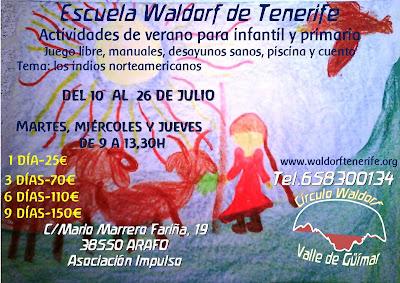 campamento verano julio'18 waldorf tenerife arafo