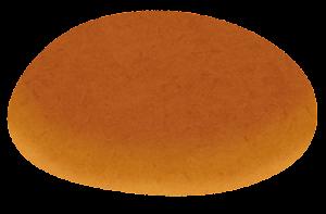 ハンバーガーの具材のイラスト(ゴマなしクラウン(上部))