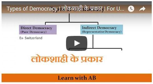 Types of democracy in marathi