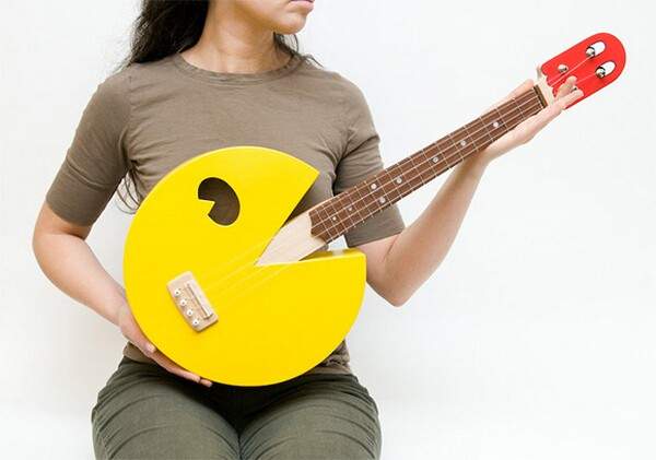 Cool pacman inspired ukulele