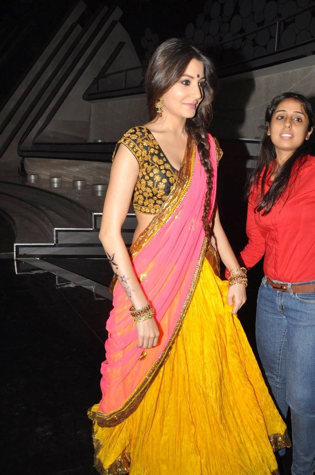Anushka Sharma - New Cute Saree Stills at Nach Baliye