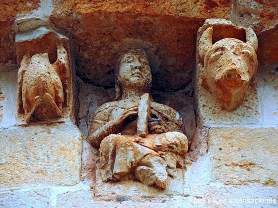 Canecillo, Ermita de la Virgen de la Soledad, Calatañazor, Castilla y León