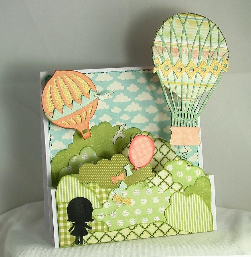 так открытка с объемными шарами одном