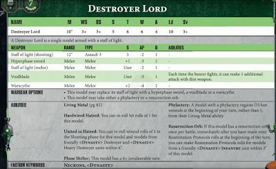 Necron Destroyer Lord