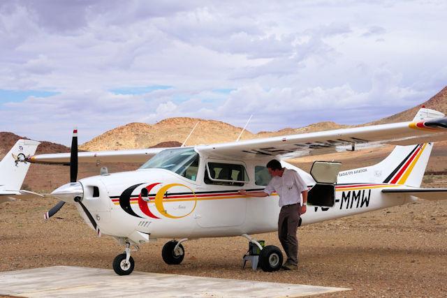 Cessna vor Rundflug (C) Kundenfoto