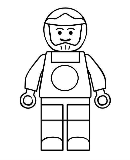 Free coloring pages of lego friends mini figure