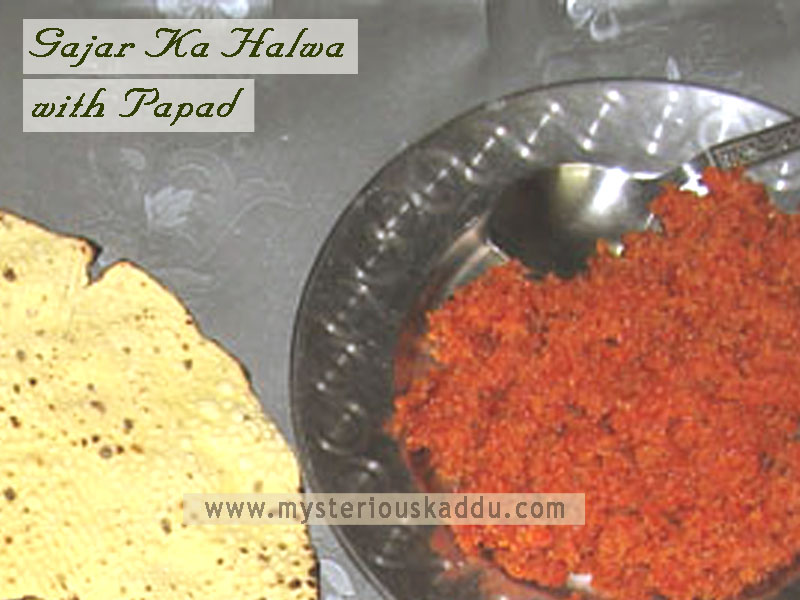 Must-Try Quirky Weird Food Combinations That Taste Amazingly Delicious: Gajar Ka Halwa & Papad