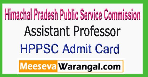 HPPSC Assistant Professor Admit Card 2017