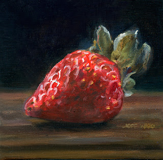 Strawberry oil painting by Jeff Ward