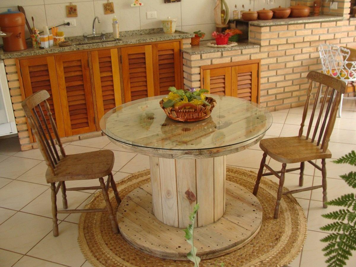 decorando e reutilizando mesa de carretel fio. Black Bedroom Furniture Sets. Home Design Ideas