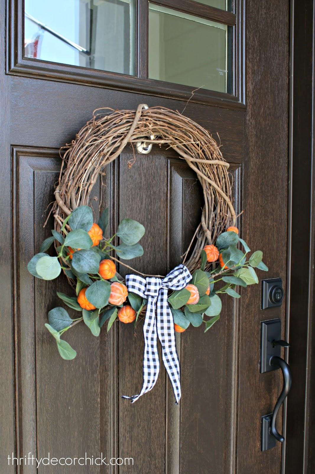 DIY pumpkin patch wreath