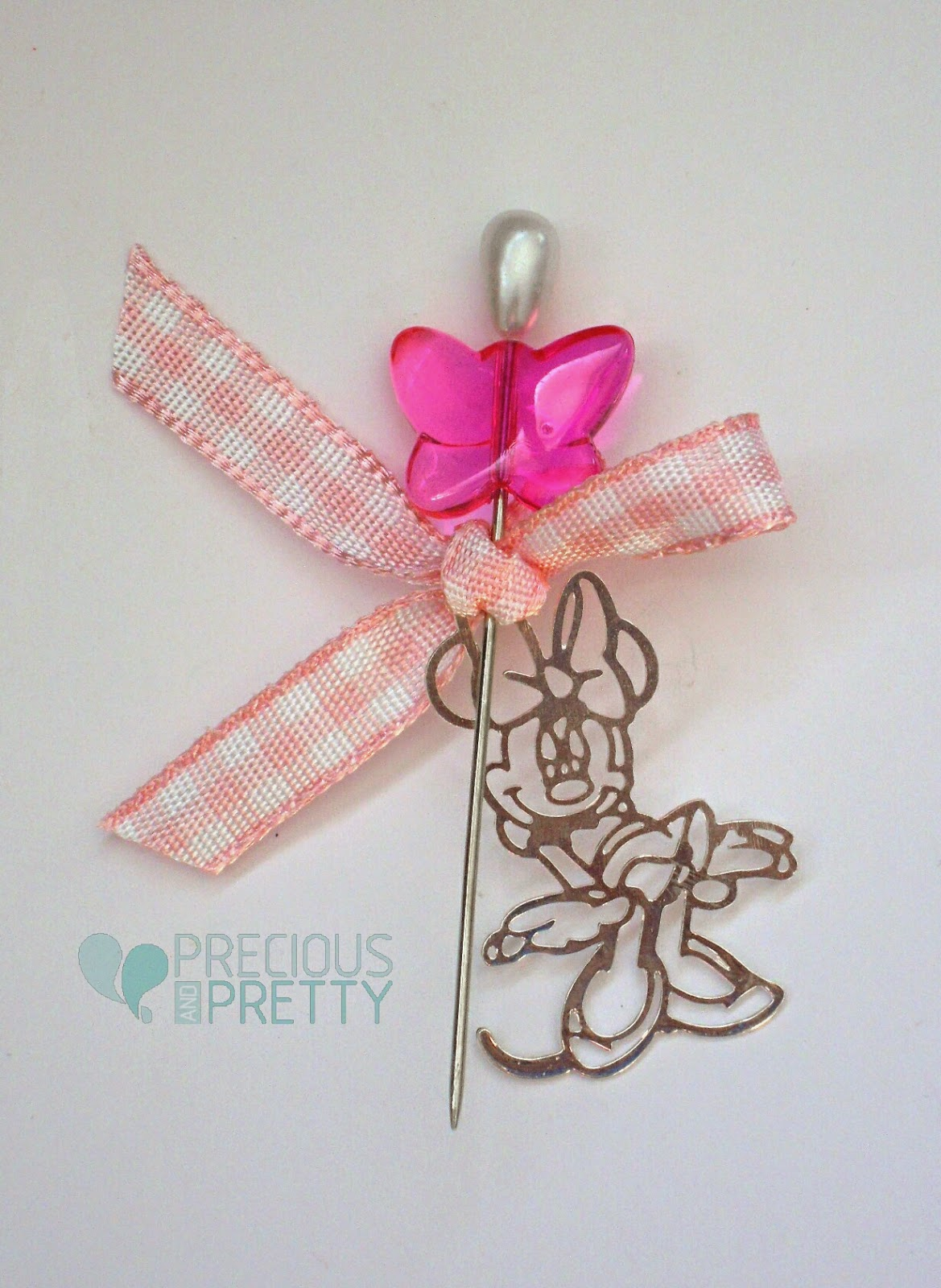 Minnie Mouse Greek baptism witness pins M15