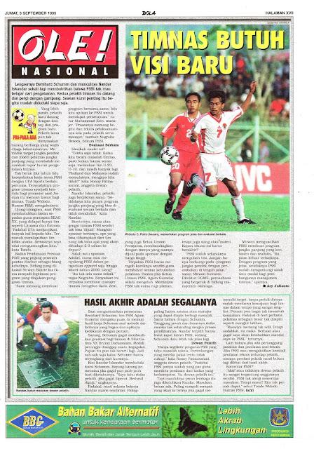SEPAKBOLA TIM NASIONAL INDONESIA BUTUH VISI BARU