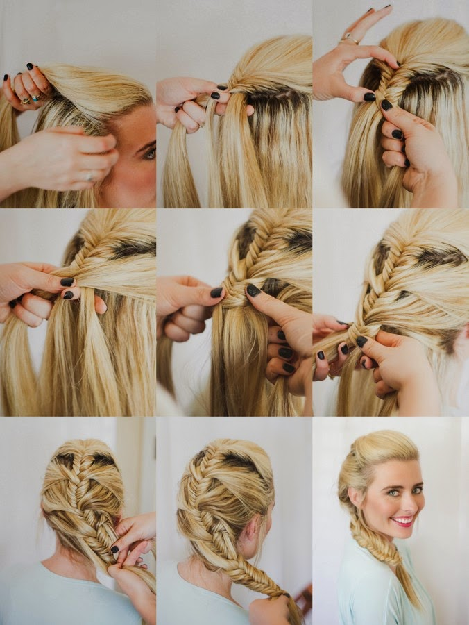 Fishtail French Braid The Shine Project