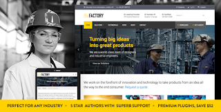 Download Manufacturing and Factory and Industrial Business WordPress Theme