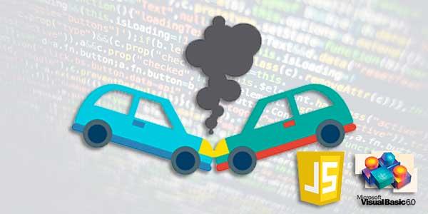 Código para Detectar colisões entre objetos javascript e vb6